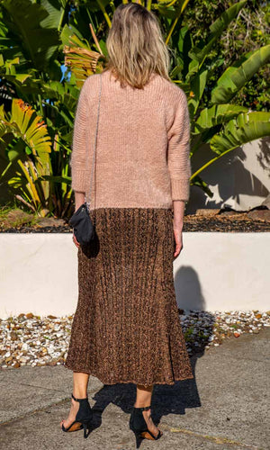 Mes Demoiselles Bronze Knitted  Skirt