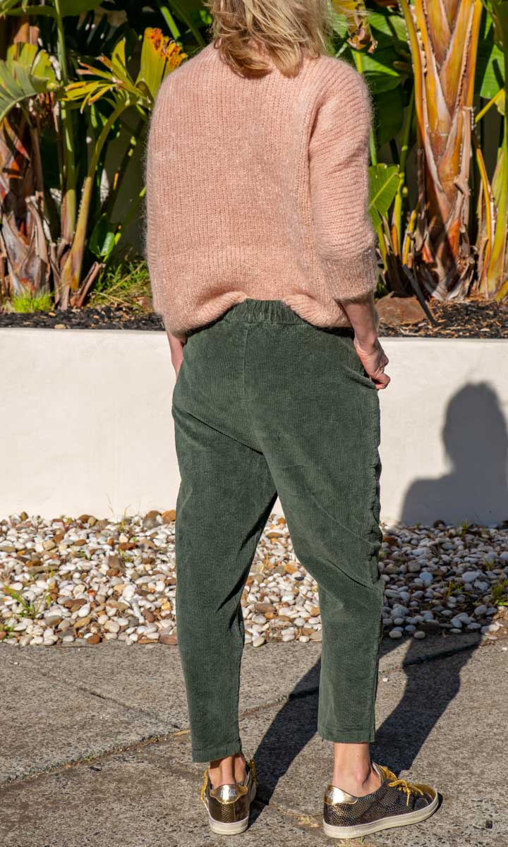 HOSS Green  Cord Slouch Pants