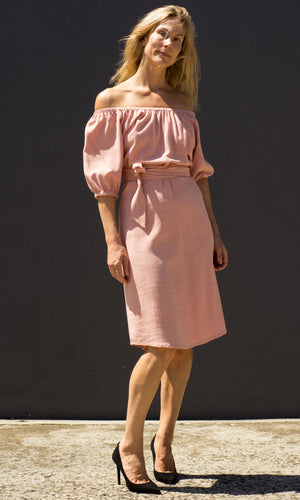 HOSS Mimi Dress - Dusty Pink - HOSS