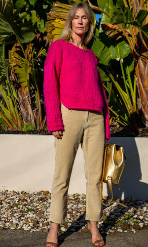 MAROSTICA  Hand knitted Pink Jumper