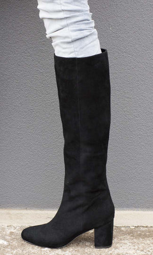 Hoss Black Suede Faithfull Boot - HOSS