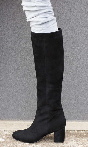 Hoss Black Suede Mac Boot