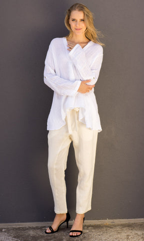 Hoss Mara Linen top - White
