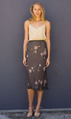HOSS Neave Silk Skirt - Virginia