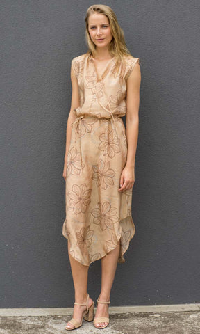 HOSS Estonia Leaf Silk Dress - HOSS