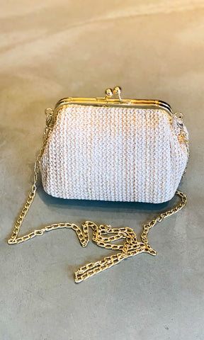 Hoss Straw Vintage-Look Handbag - Light - HOSS