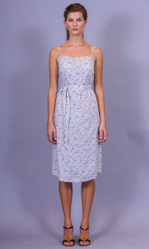 HOSS Jaeger Dress - Blue Floral - HOSS