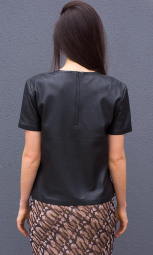 HOSS Leather Tee - HOSS