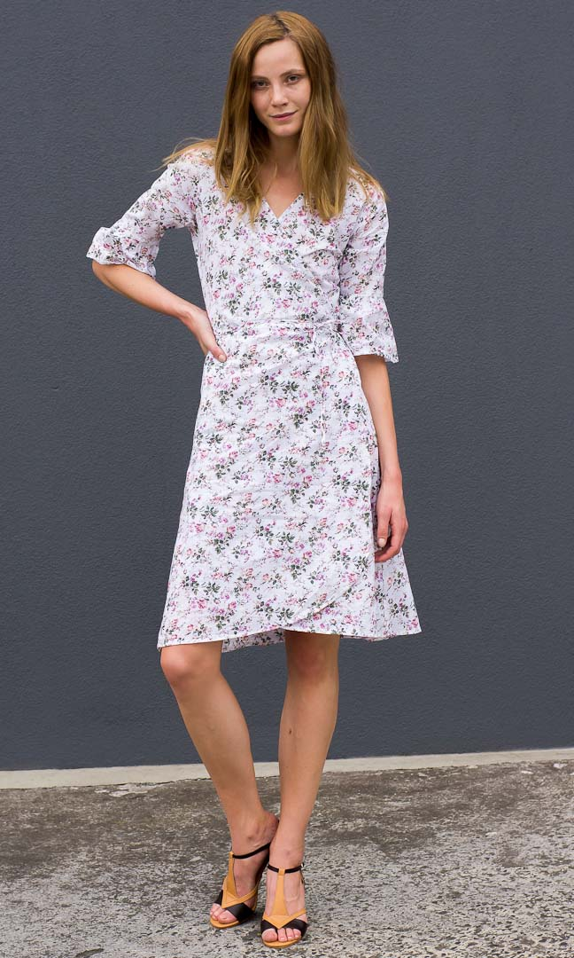 HOSS Wrap Dress - Pink Floral - HOSS