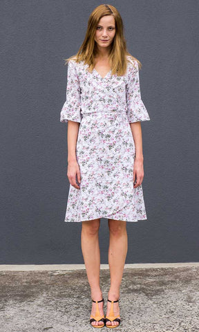 HOSS Wrap Dress - Pink Floral
