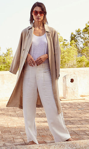 NOT SHY Linen Trench