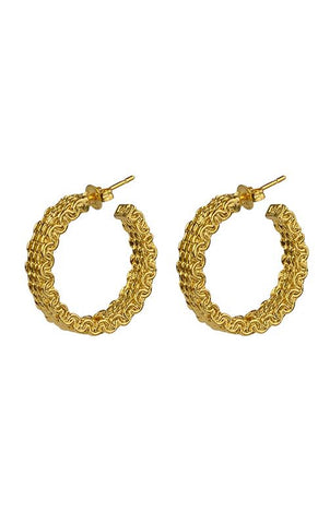 Brie Leon Malla Stud Hoop Earrings - HOSS