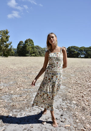Embroidered Anglaise  Printed Zoe Dress