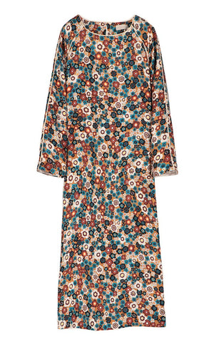 Momoni Flower Print Silk Dress