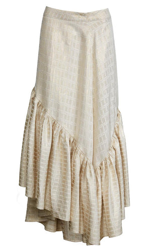FLATIRON Big Frill Gold Skirt - HOSS