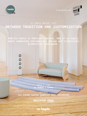 Open image in slideshow, cc-tapis Design Talk: Between Tradition and Customization - Free onsite or online attendance