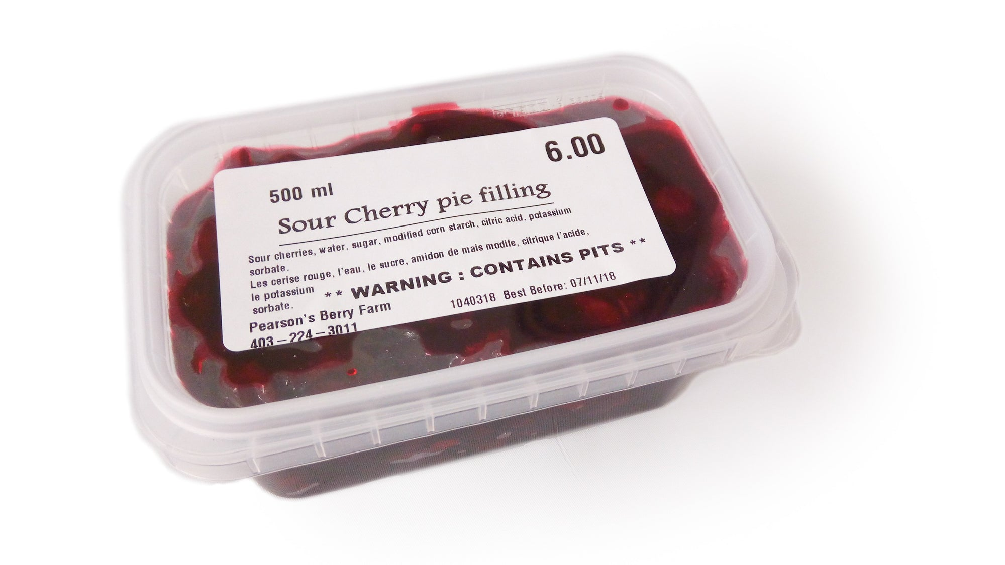 Prairie Sour Cherry Pie Filling 500ml