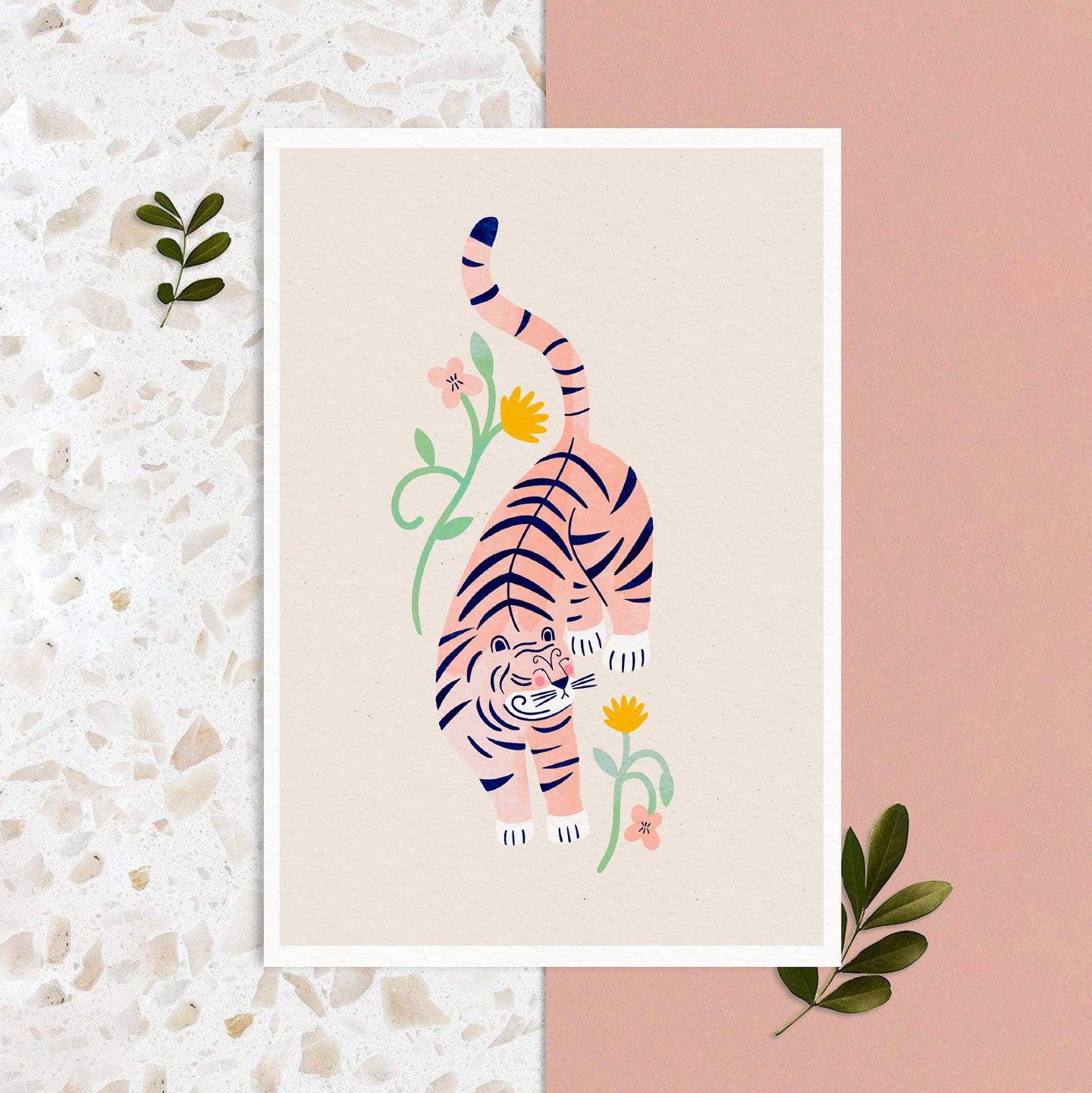 A4 Poster -  Pink tiger