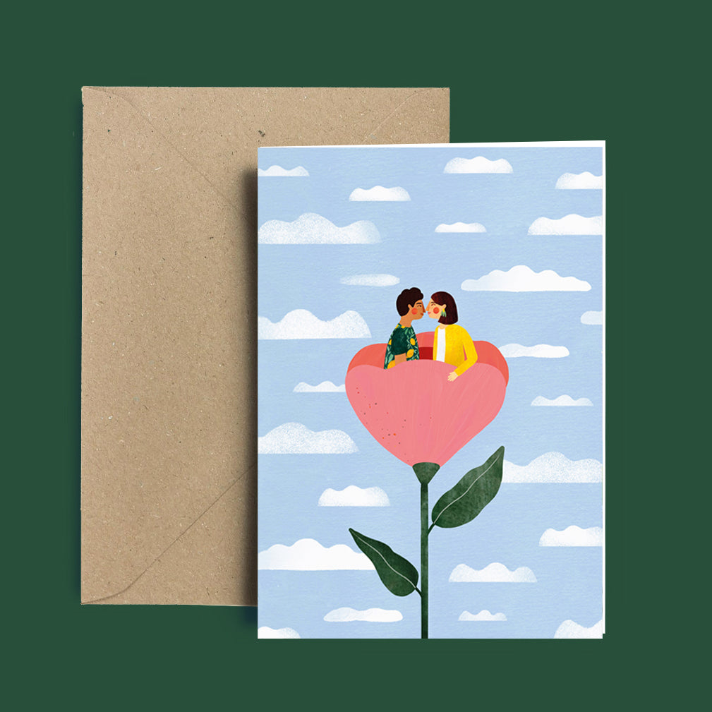 Greeting card - Flower lovers