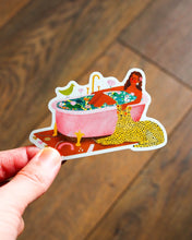Load image into Gallery viewer, Glitter sticker - The Bathroom