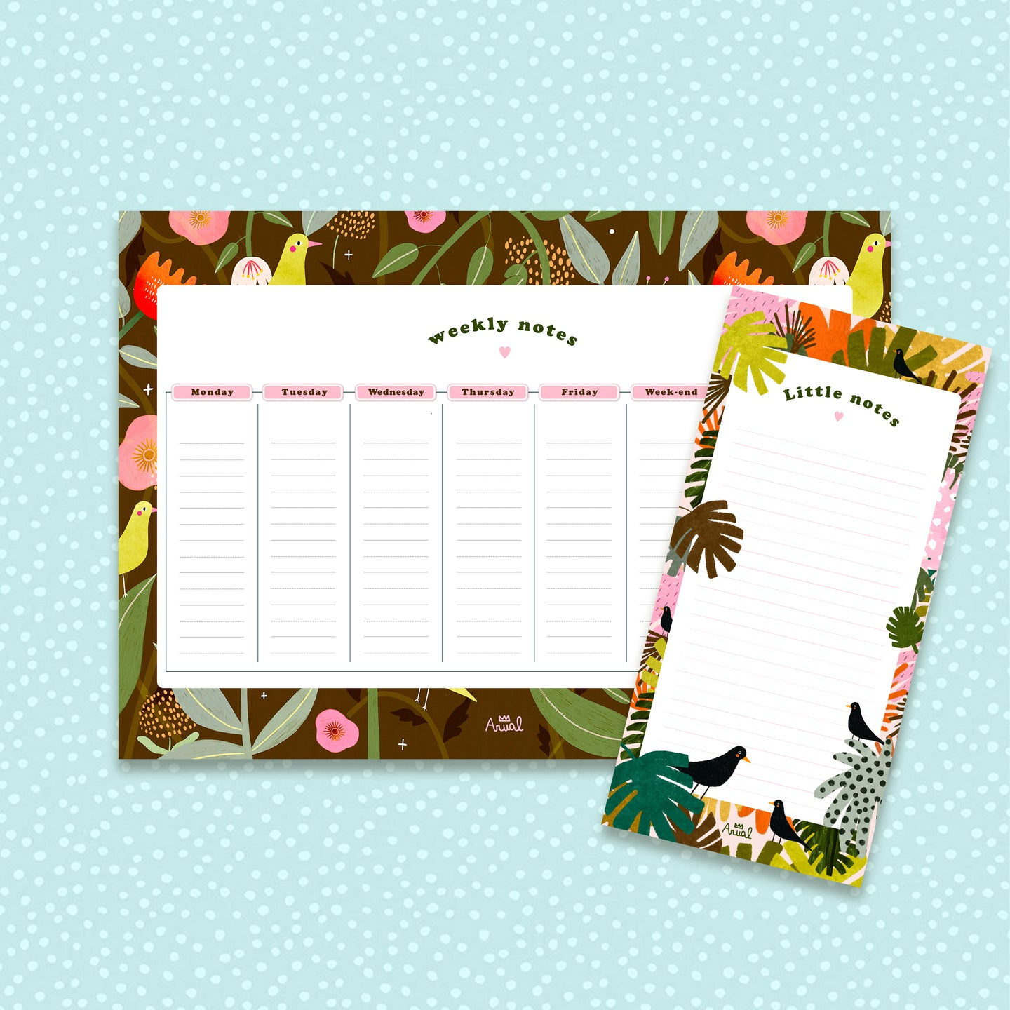 Notepad & Weekly planner