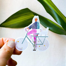 Charger l'image dans la galerie, Semi transparent sticker - Cosmic bike