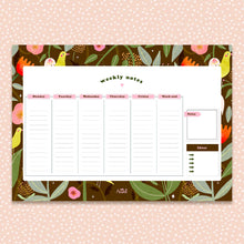 Load image into Gallery viewer, Weekly planner - A4