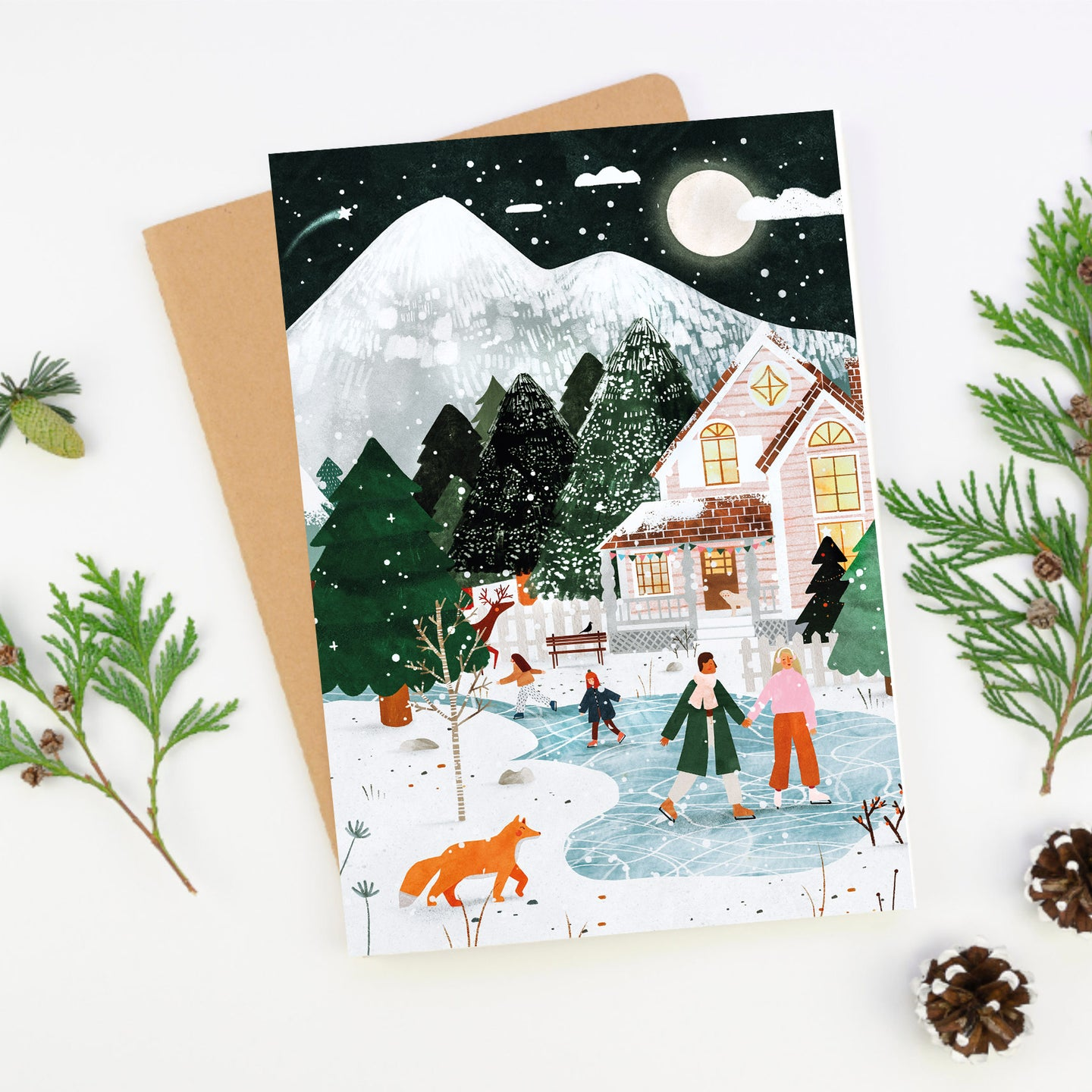 A5 Greeting card - Winter forest