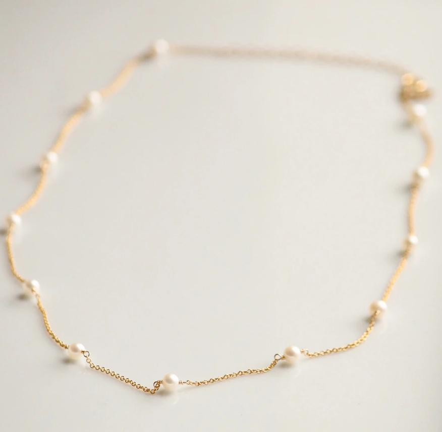 Little Hawk Pearl Necklace - Gold Jewelry - Sloane Boutique