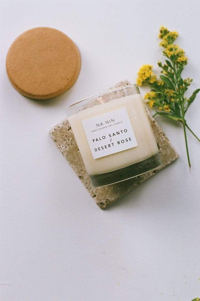 Na Nin Palo Santo & Dessert Rose Candle - 8oz Fragrance - Sloane Boutique
