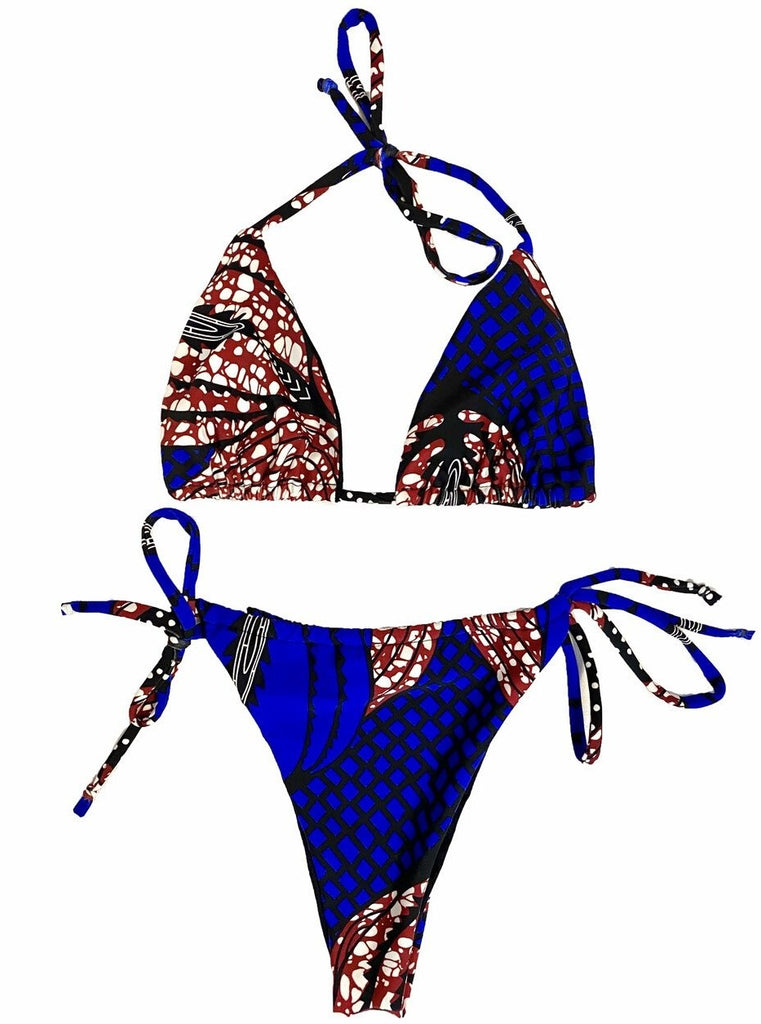 ankara bikini brazilian minikini tinikini thong african swimwear swimsuit bathing suit african brand latina dominican women swimwear brand made in new york