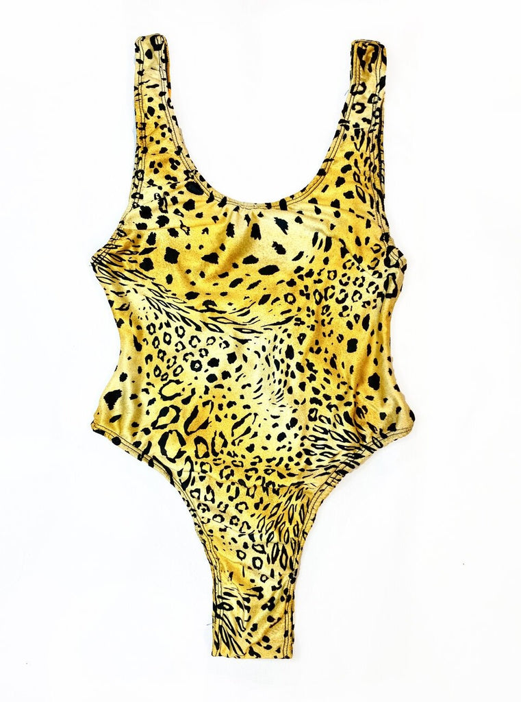 cheetah one piece bodysuit leotard african swimwear swimsuit bathing suit