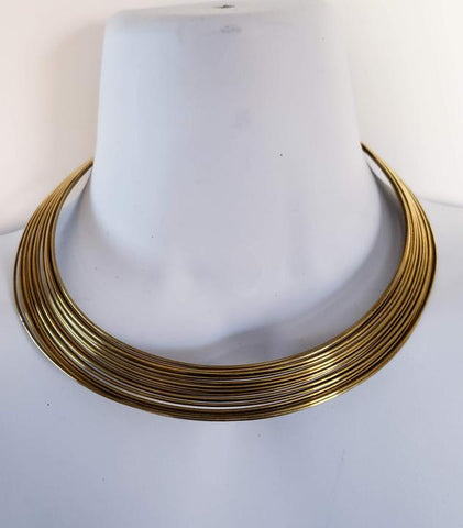 Asilia - Layered Brass Torc
