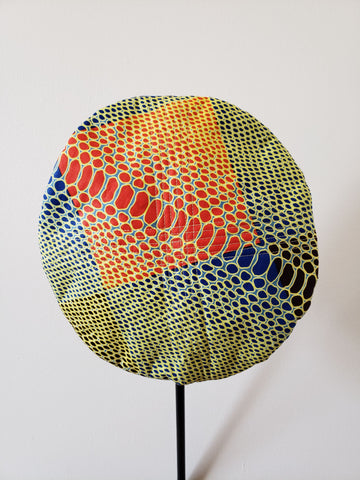 Naturelle- African Print Orange Yellow Blue Beret