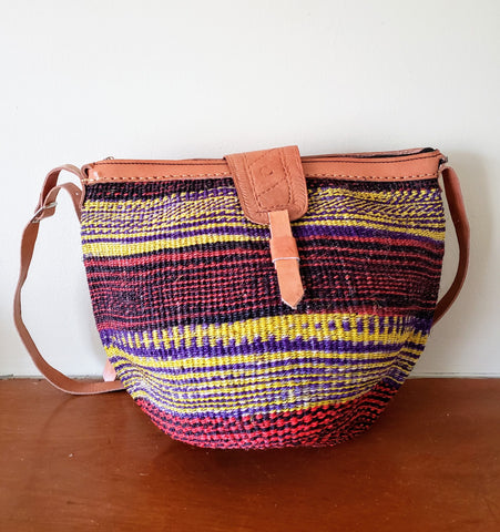 Mpenda - Multicolor Handwoven Straw Shoulder Bag