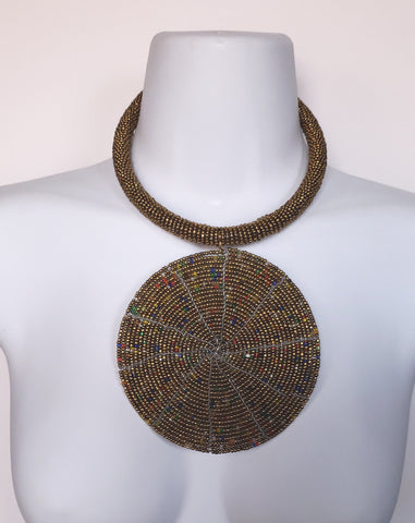 Maasai - Beaded Disk Necklace