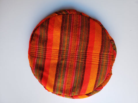 Naturelle- African Print Red Orange Green Stripe Beret