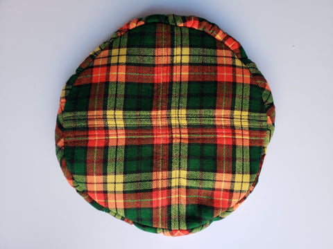 Naturelle- African Print Red Yellow Green Plaid Beret