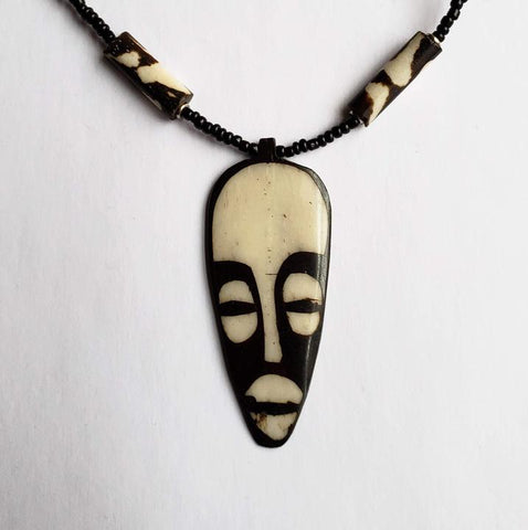 Malia  -  Unisex Necklace Tribal Mask Pendant