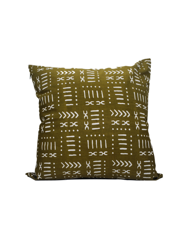Kwadwo IV- Green Mud cloth Print Cushion
