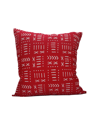 Kwadwo II- Red Mud Cloth Print Cushion