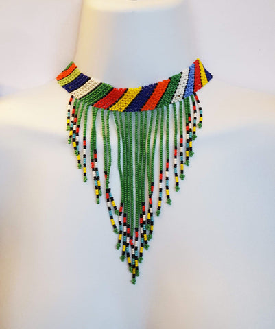 Kholwa - Green Beaded Choker