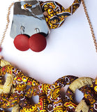 Tafadzwa - African Print Necklace and Earring Set