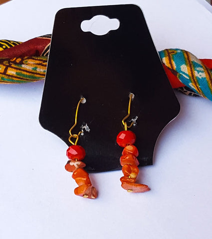 Tatenda- African Print Necklace and Earring Set