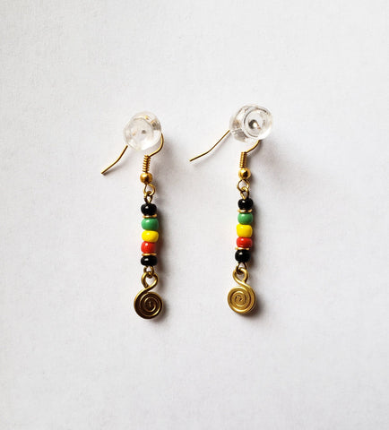 Simba- Brass Earrings