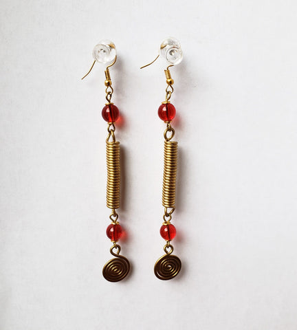 Afaafa - Dangling Brass Earrings
