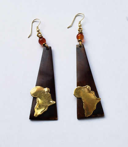 Afrika - Brass-plated Africa Earrings
