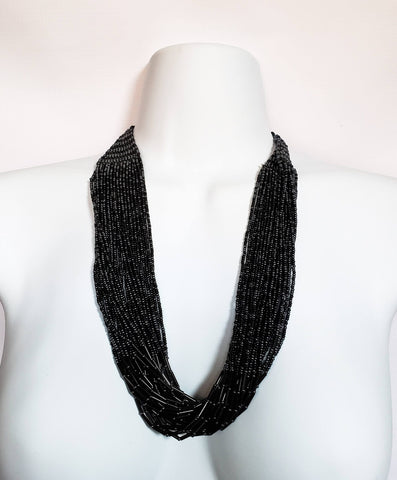 Bhekani - Black Beaded Necklace