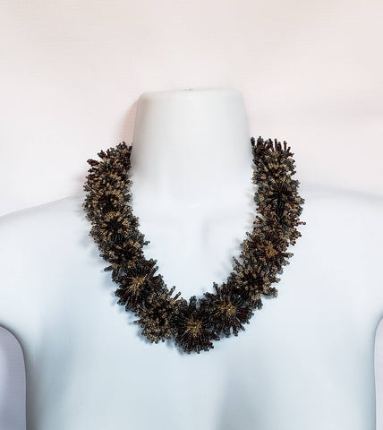 Nceba II - Small Flower Beaded Necklace