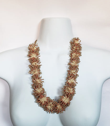 Nceba - Pink Flower-Beaded Necklace